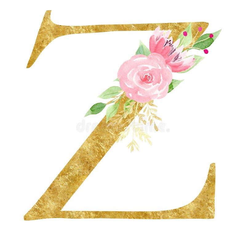 Hauptz-Symbol mit Blumenrasterillustration stock abbildung