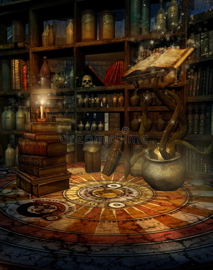 Haus 2 des Zauberers lizenzfreie abbildung