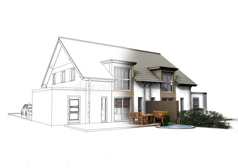 Haus 3d vektor abbildung