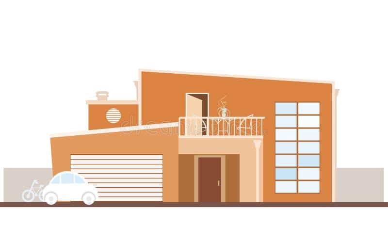Haus-Architektur lizenzfreie abbildung