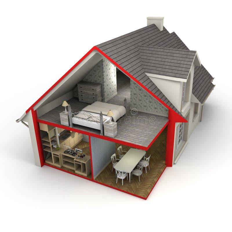 Download Haus Außen Und Innen Stockbild. Bild Von Plan, Haupt   37183627