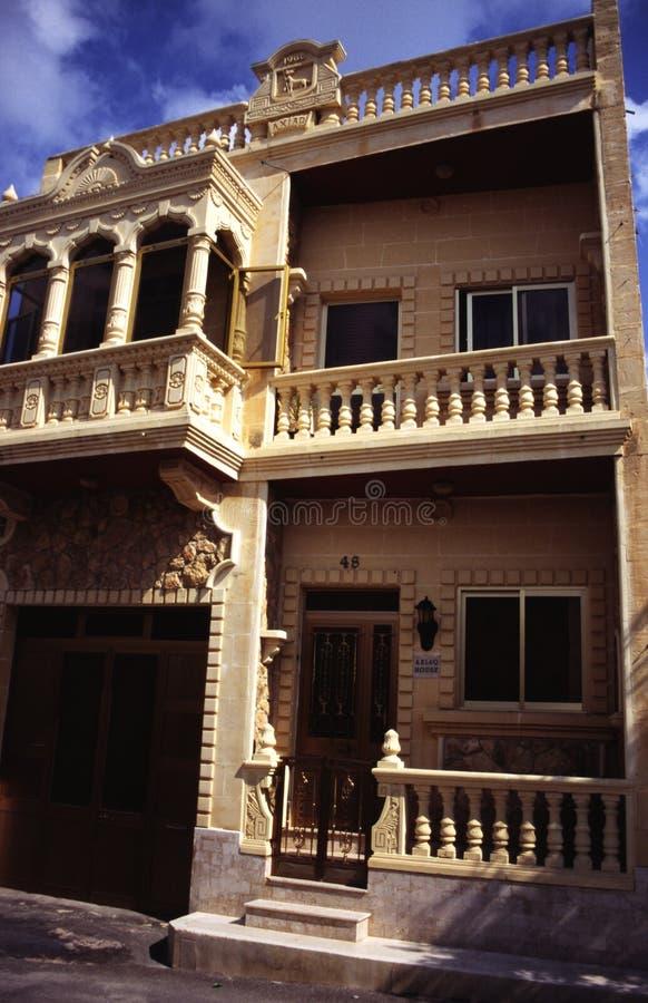 Haus auf der Insel von Malta lizenzfreie stockbilder