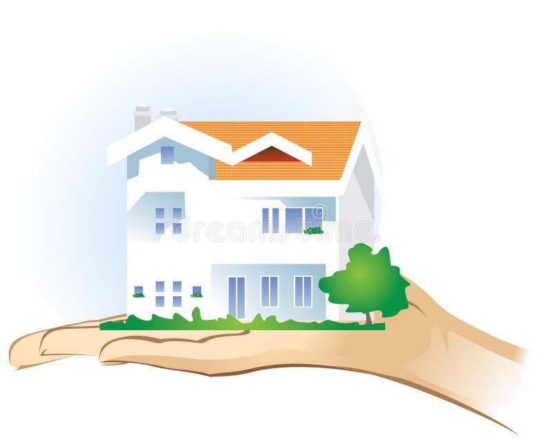 Haus auf der Palme stock abbildung