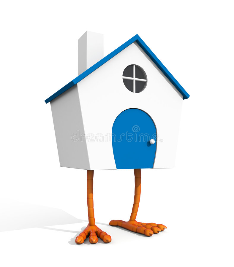Haus auf Hühnerbein vektor abbildung