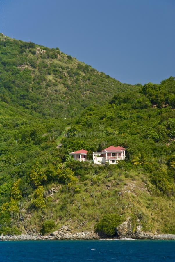 Haus auf Jost Van Dyke Island lizenzfreie stockfotografie