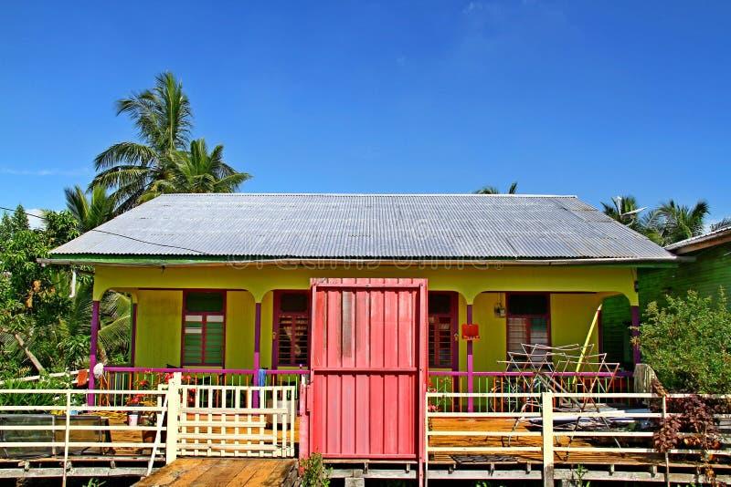 Haus auf Pulau Ketam (Krabben-Insel), Malaysia stockfoto