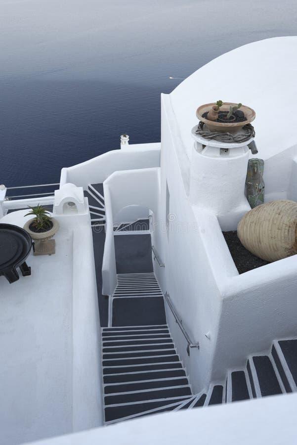 Haus auf Santorini-Insel stockfotografie
