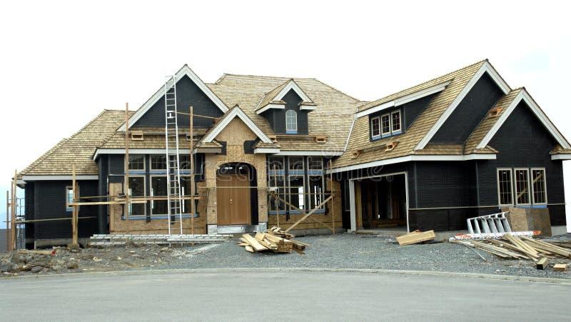 Haus-Aufbau stockfotografie
