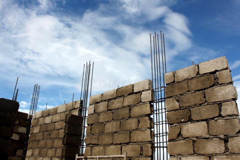 Haus-Aufbau lizenzfreie stockbilder
