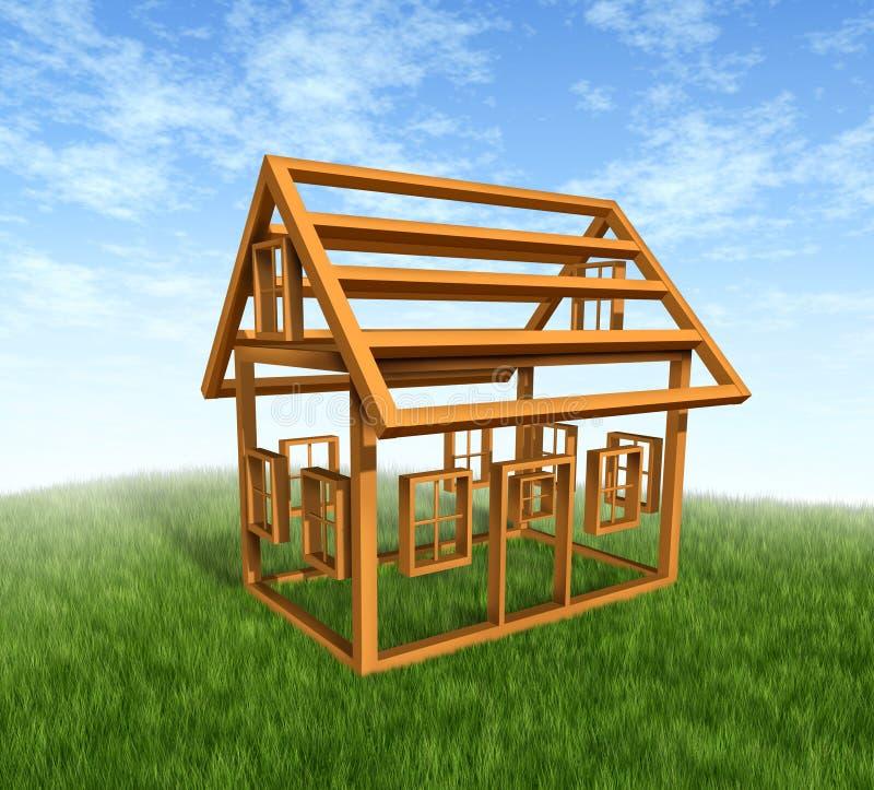 Haus-Aufbau lizenzfreie abbildung