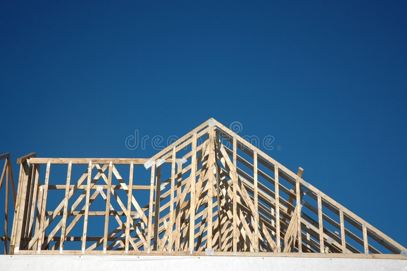 Haus-Aufbau 3 stockbild