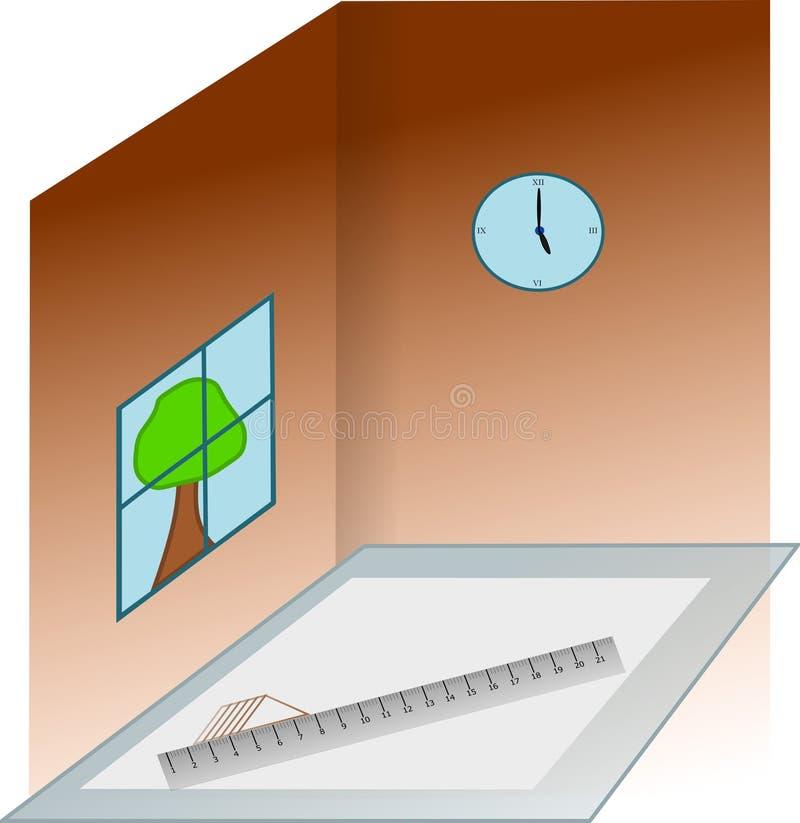 Haus-Aufbau in den Arbeiten lizenzfreies stockbild