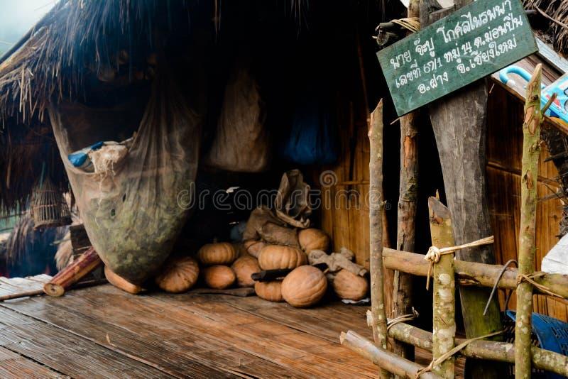 Haus bei Ang Khand lizenzfreies stockbild