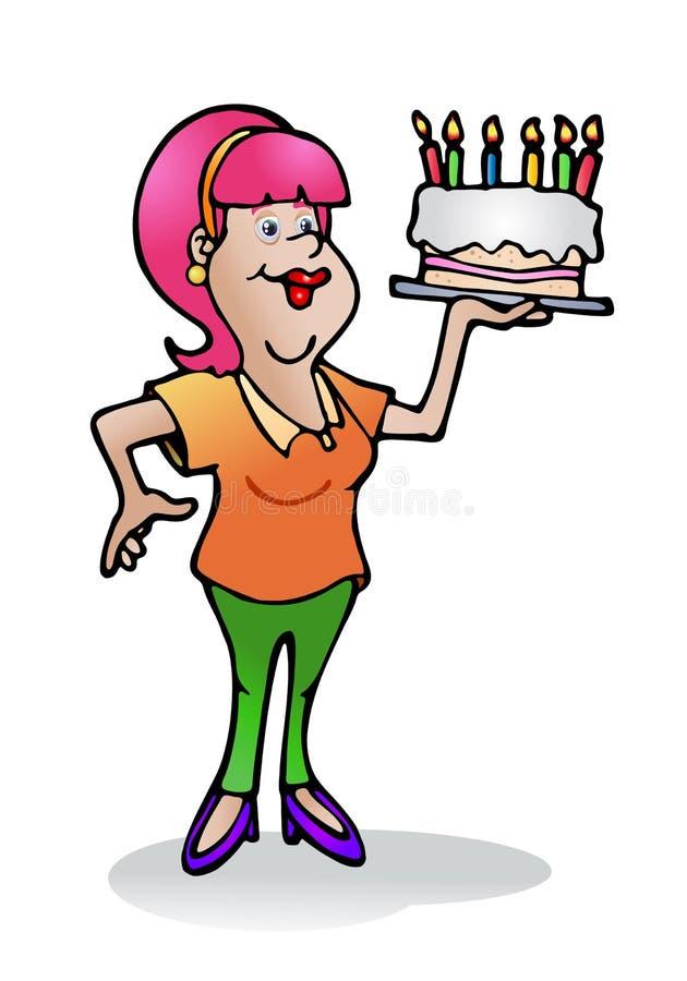 Download Haus Bildete Geburtstagkuchen Stock Abbildung - Illustration von kuchen, cupcake: 26353282