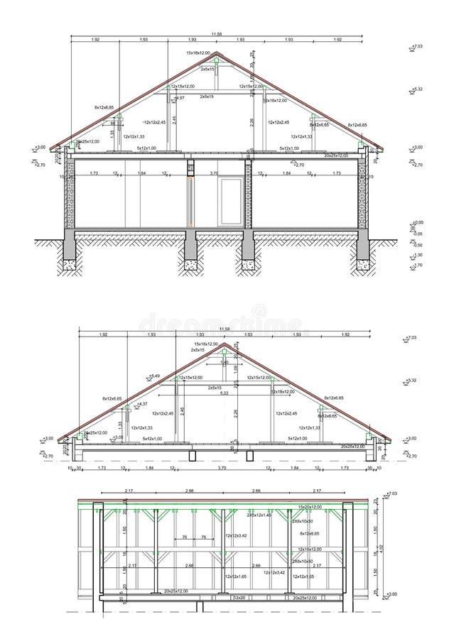 Haus blueprints Pläne stock abbildung