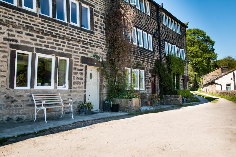 Haus Cleggy und Howards holmfirth stockfotos