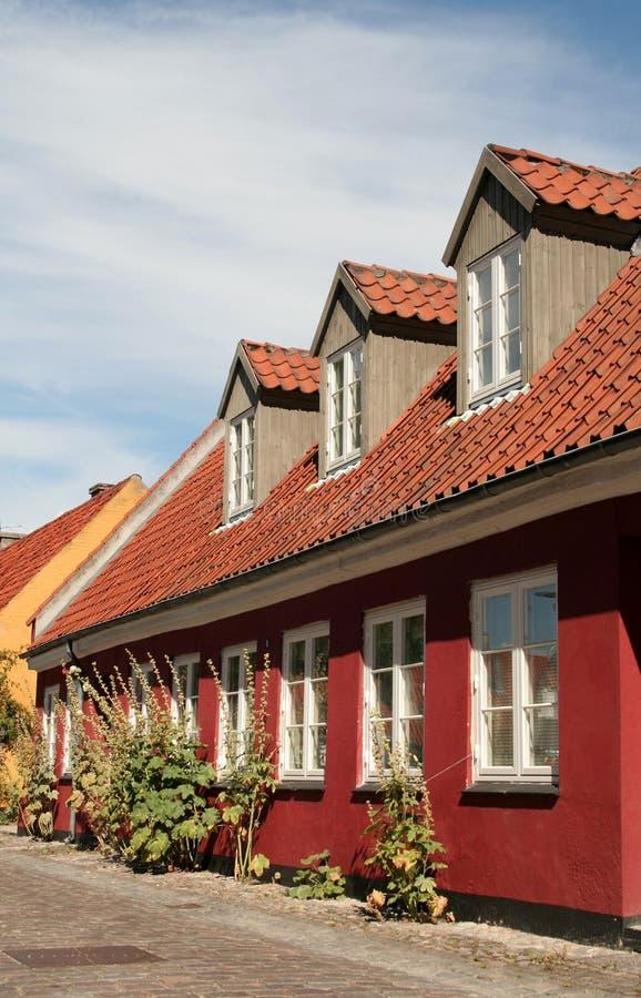 Haus in Dänemark lizenzfreie stockbilder