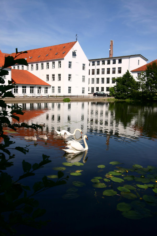 Haus in Dänemark stockfotos