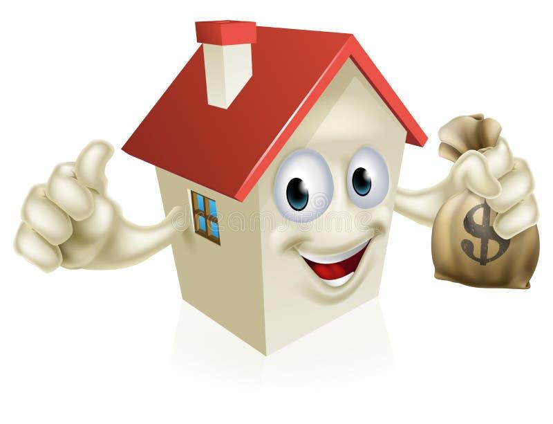 Haus, das Geld hält lizenzfreie abbildung