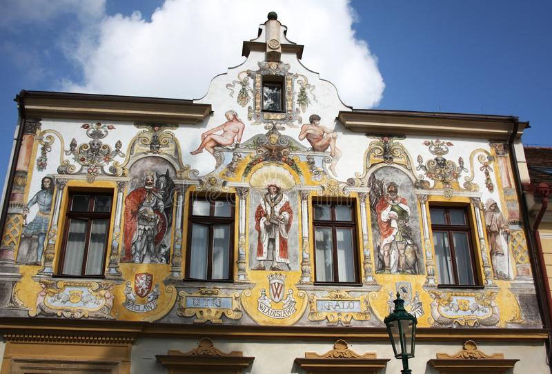 Haus an den drei Königen in Kutna Hora lizenzfreie stockfotos