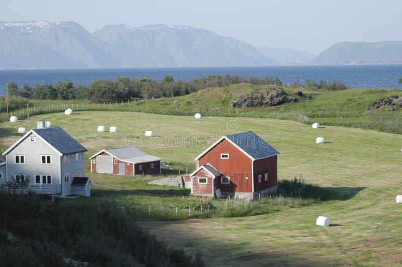 Haus in den Hügeln stockfoto
