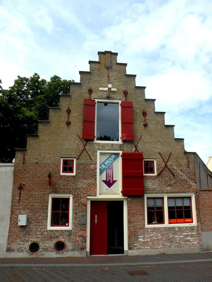 Haus in den Niederlanden lizenzfreie stockfotografie