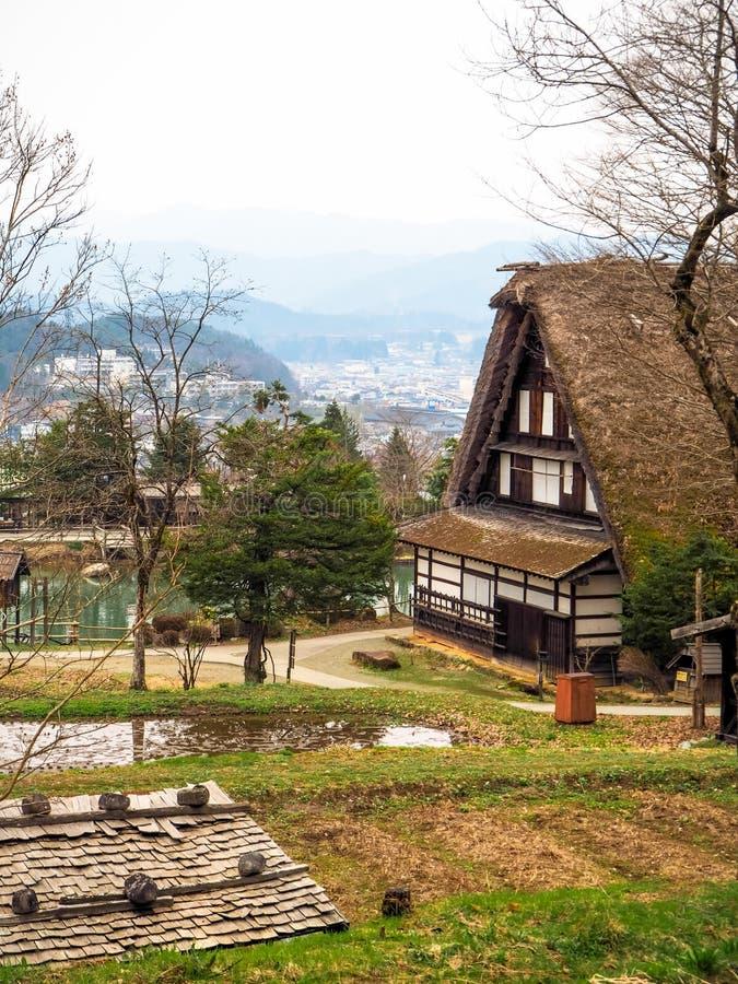 Haus in der alten Stadt Shirakawako lizenzfreies stockbild