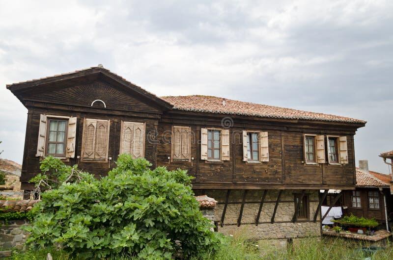 Haus der alten Stadt von Sozopol stockbilder