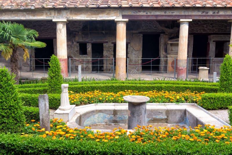 Haus der goldenen Amoren, Pompeji, Italien lizenzfreies stockbild