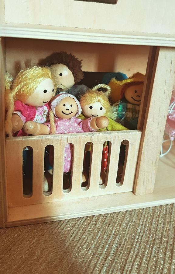 Haus der Puppe lizenzfreies stockfoto