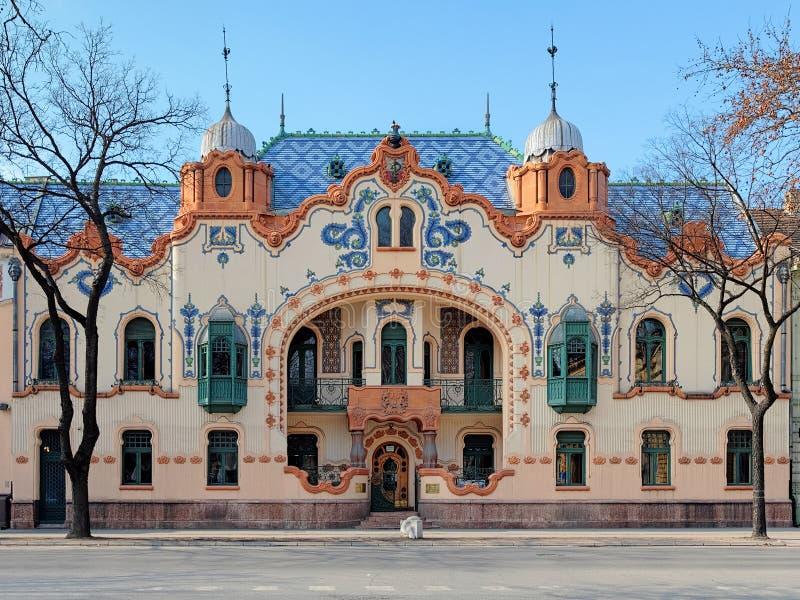 Haus des Architekten Ferenc Raichle in Subotica, Serbien stockbild