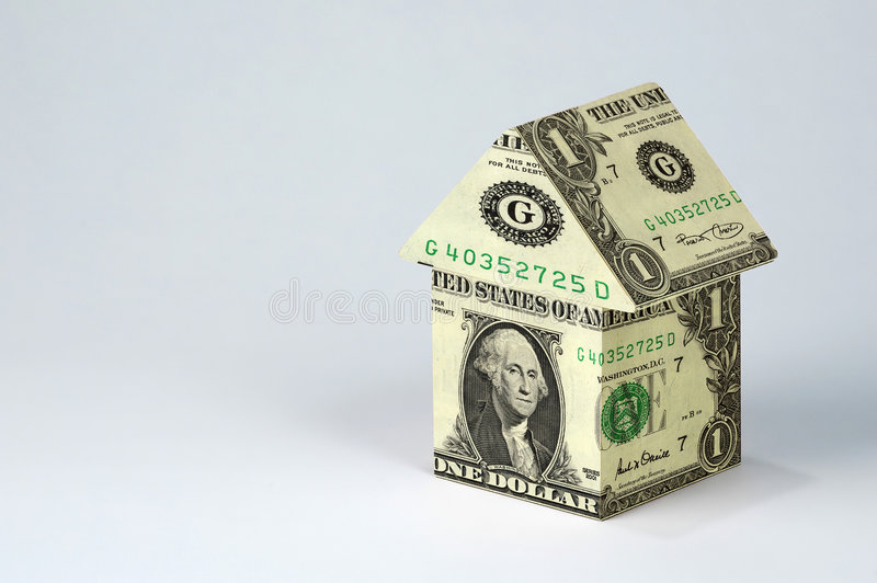 Haus des Geldes stockfotografie