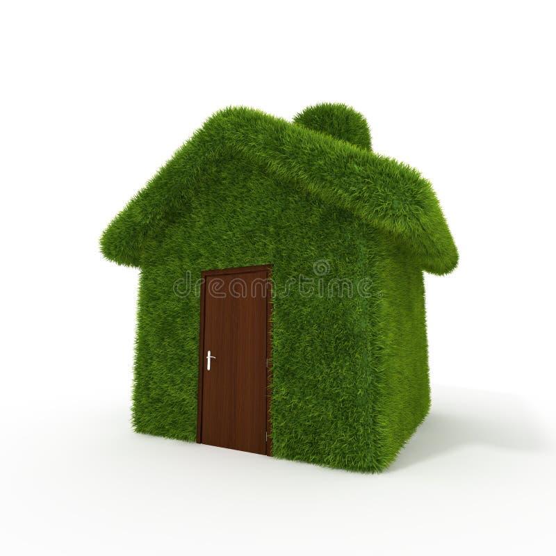 Haus des grünen Grases lizenzfreie abbildung