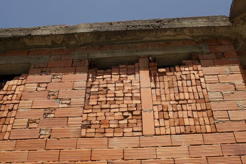Haus des roten Backsteins stockbilder