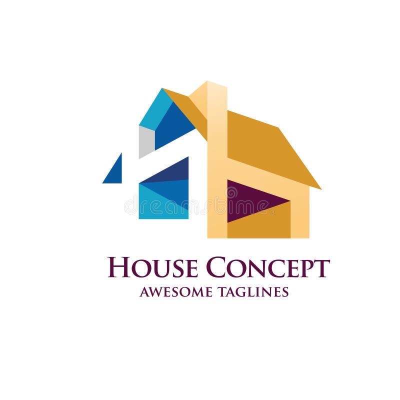 Haus-Designvektor stock abbildung