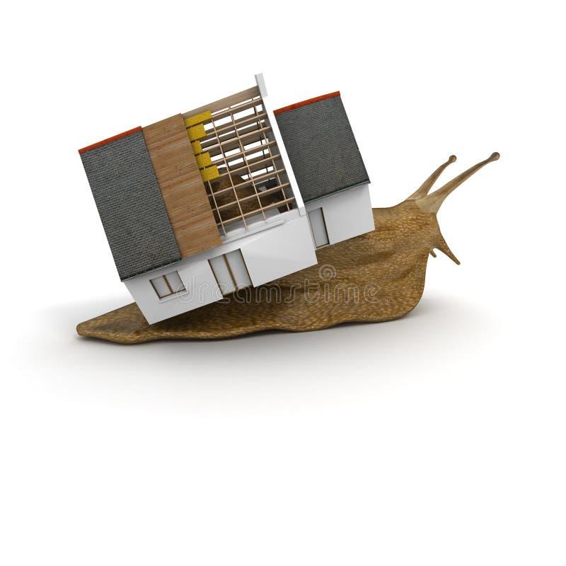 Haus einer Schnecke stock abbildung
