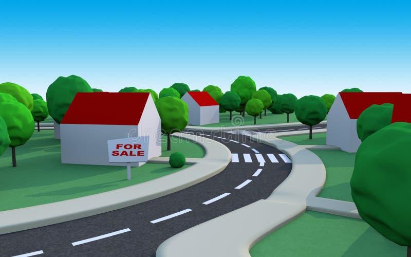 Haus für Verkauf vektor abbildung