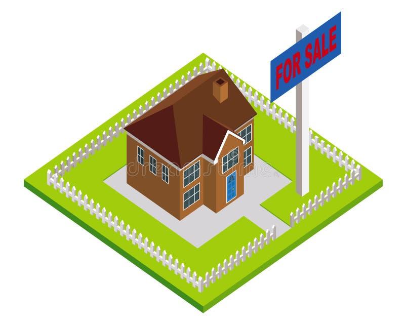 Haus für Verkauf stock abbildung