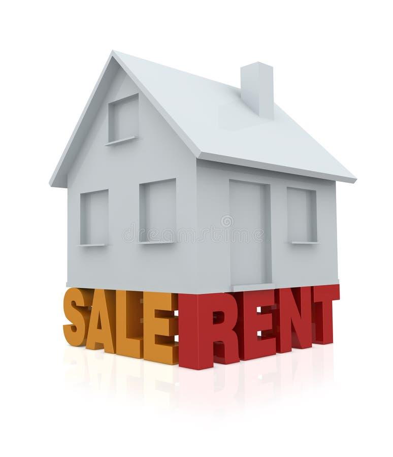 Haus für Verkauf oder Miete vektor abbildung