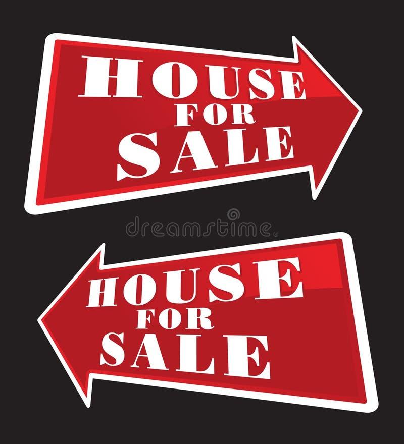 Haus für Verkaufs-Pfeile vektor abbildung