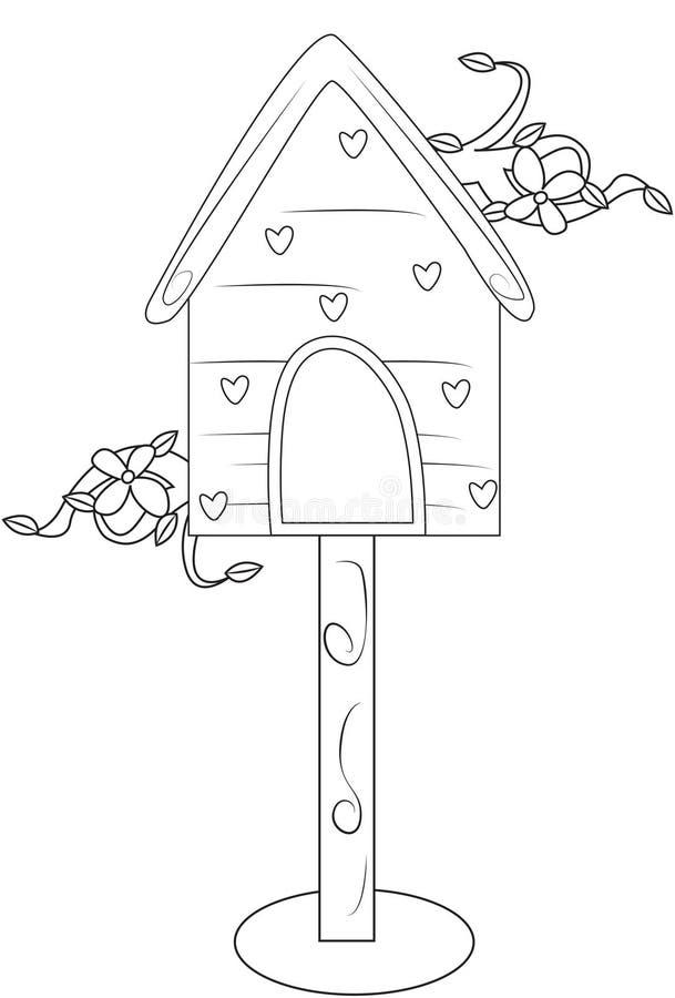 Haus-Farbtonseite des Vogels stock abbildung