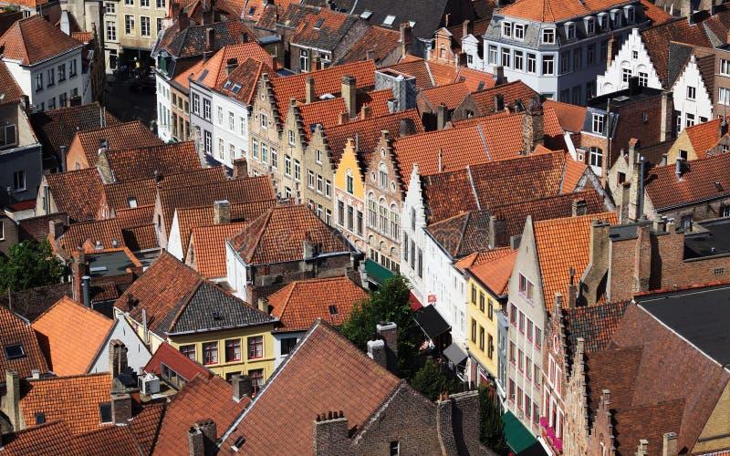 Haus Front In Bruges lizenzfreies stockbild
