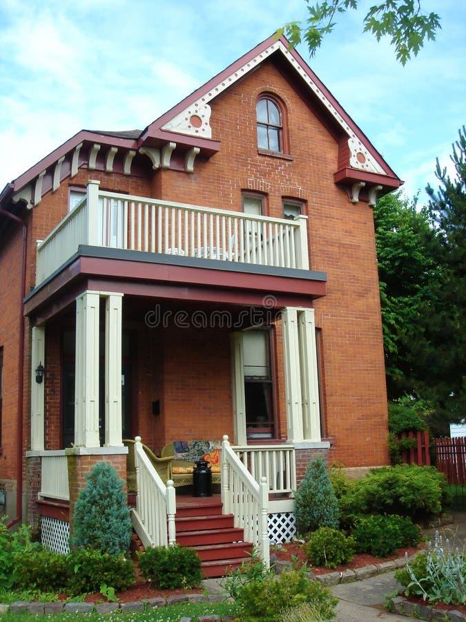 Haus in Gananoque, Ontario, Kanada lizenzfreie stockbilder
