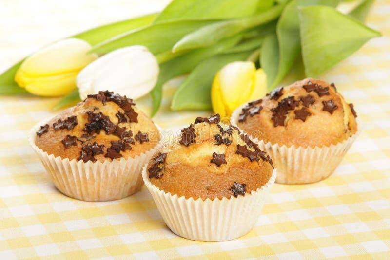 Haus gebackene Muffins stockfotos