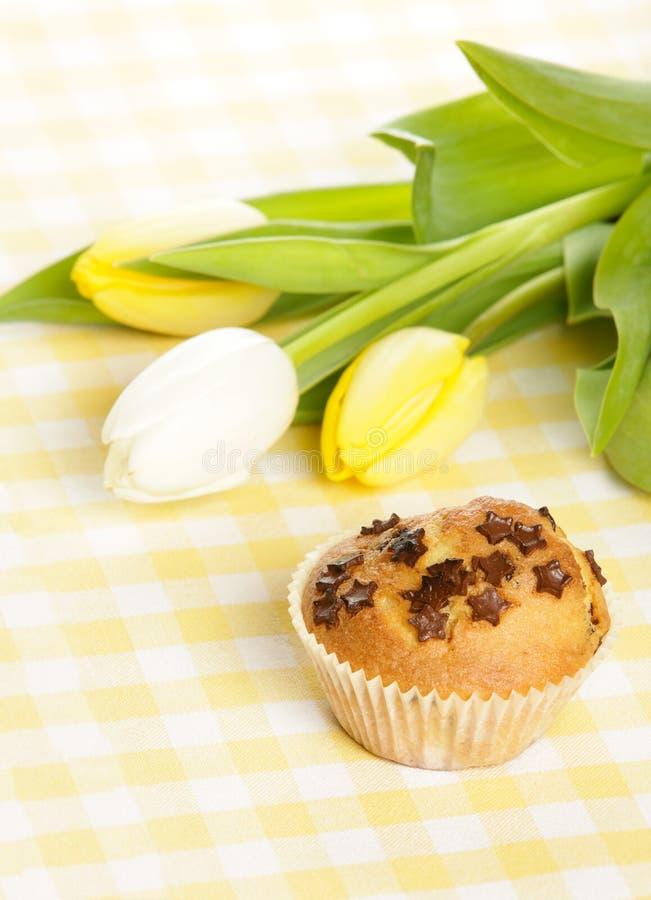 Haus gebackenes Muffin stockbild