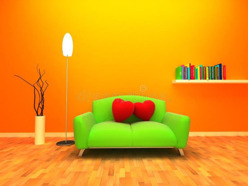 Haus gefüllt mit Liebe und Wärme vektor abbildung