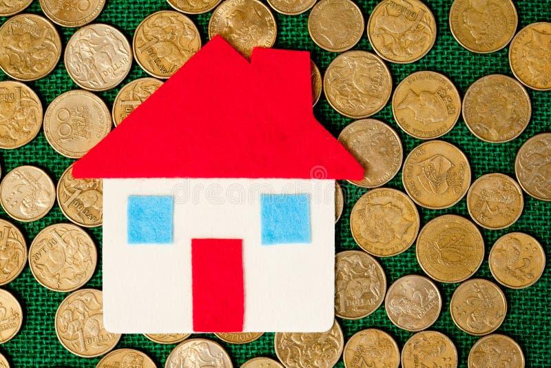 Haus- geld- Abwehr stockfotos