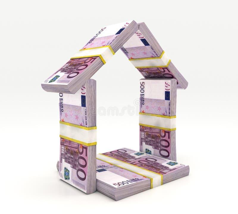Haus gemacht vom Bargeld lokalisiert lizenzfreie abbildung
