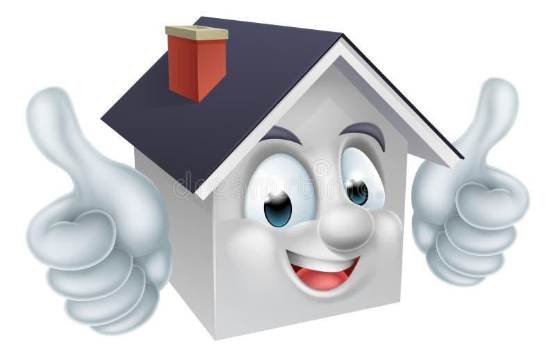 Haus greift herauf Mann-Charakter ab vektor abbildung