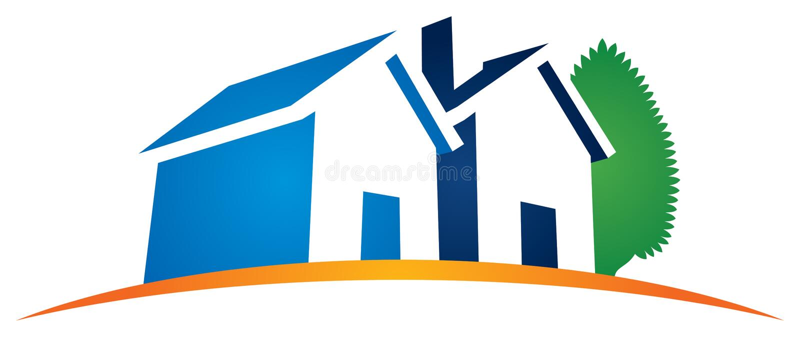 Haus-Hauptlogo lizenzfreie abbildung
